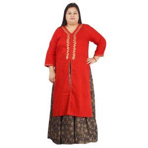 e66395725e5 Woman Kurta Archives - Page 2 of 3 - Damyantii    Plus Size Ladies ...