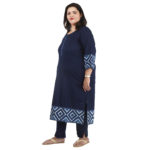 Cotton Kurta in Blue for Office
