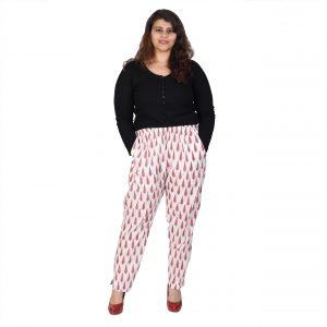 Plus Size Printed Pants