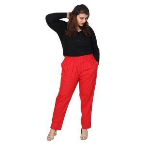 Red Stretch Pants
