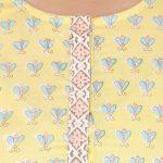 Honey Bee Yellow Cotton Kurta