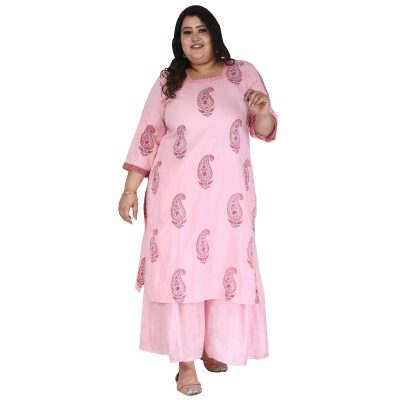 PLus Size Pink Kurta_DS20_233