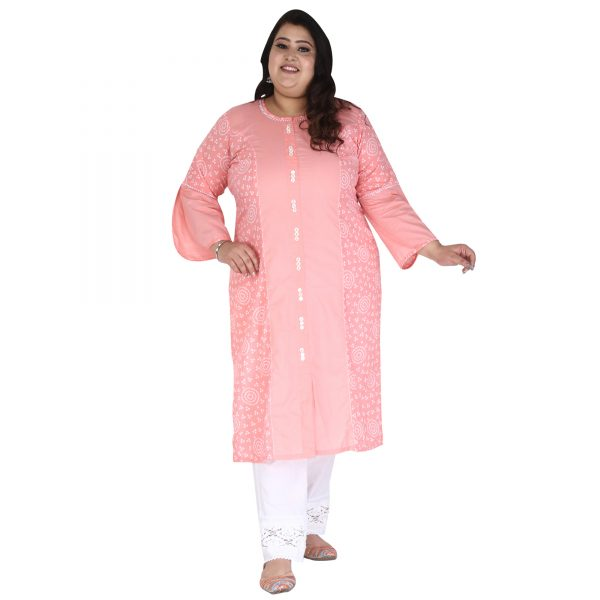 Plus Size Peach kurta