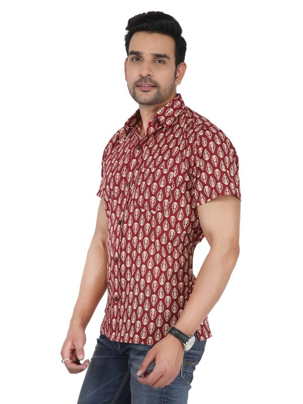 block print mens shirt