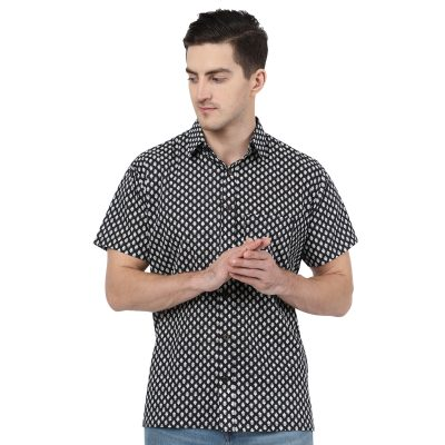 Hand Block Print Men Shirt Plus Size