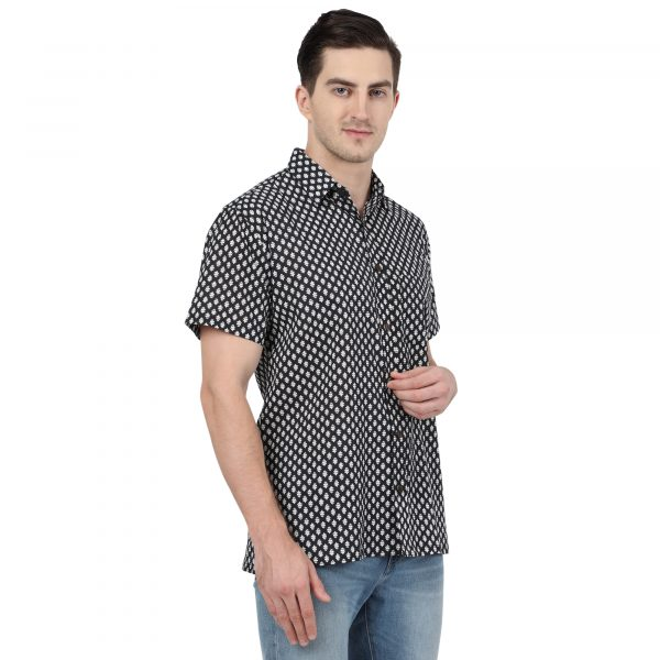 Hand Block Print Men Shirt Plus Size