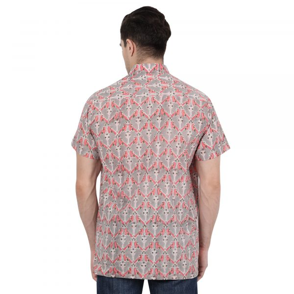 Hand Block Print Shirt Men